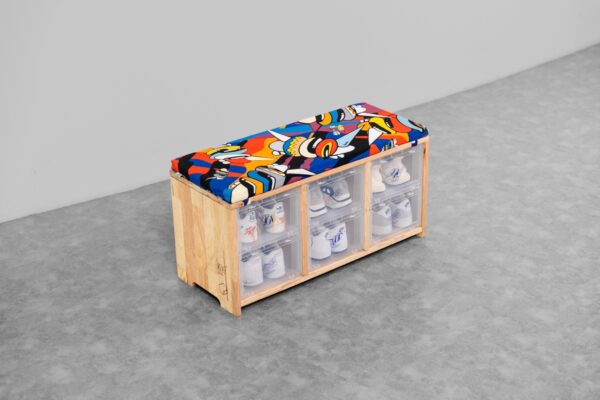 TOWER BOX ARTISTS SERIES X BENZILLA SNEAKERS WOODEN STOOL